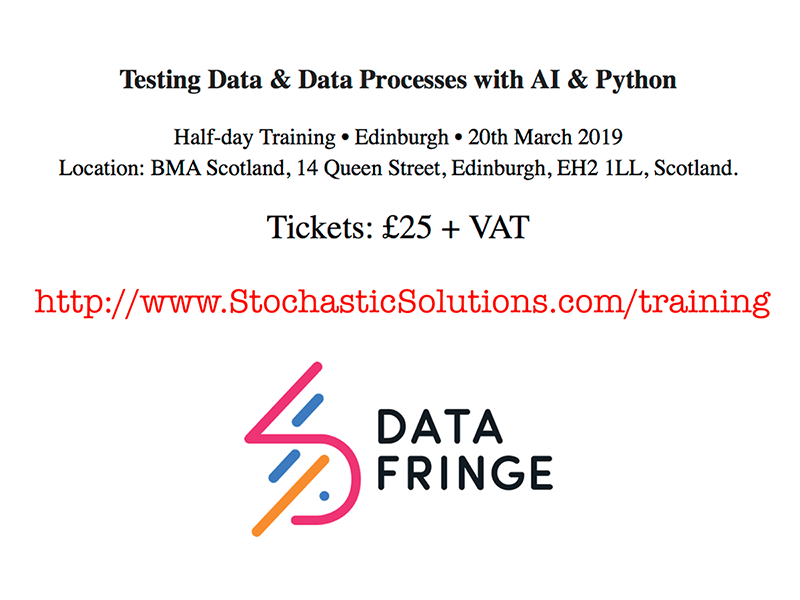 Training Course on Testing Data and Data Processes